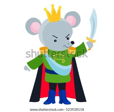 mouse king ballet nutcracker vector illustration stock vector rh shutterstock com  nutcracker ballerina clipart