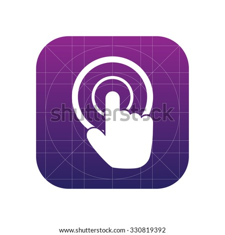 Mouse point click sign icon, vector illustration. Mouse point click symbol. Flat icon. Flat design style for web and mobile. - stock vector