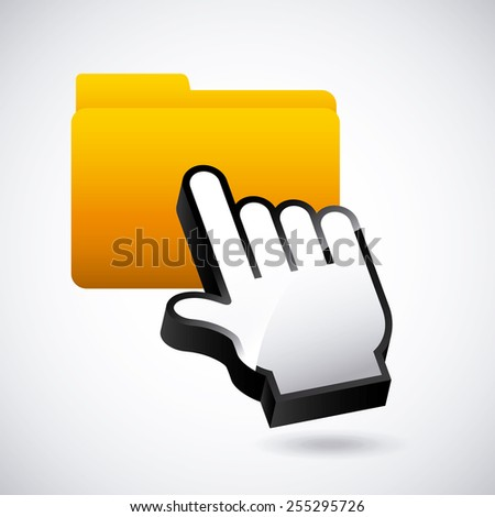 mouse pointer design, vector illustration eps10 graphic  - stock vector