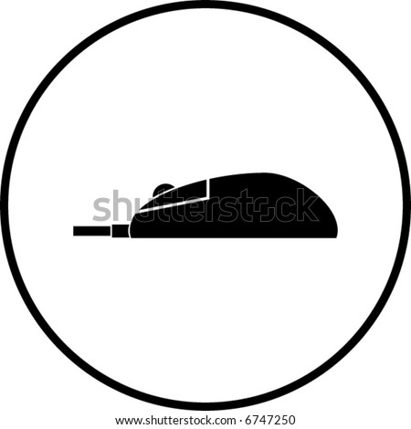 mouse symbol - stock vector