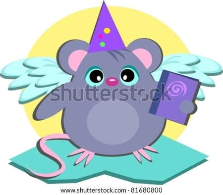 Mouse Wizard with Book