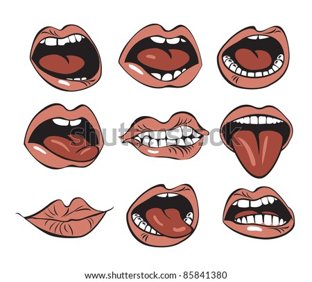 mouth - stock vector