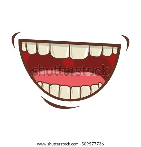mouth cartoon icon