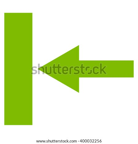 Move Left vector icon. Style is flat icon symbol, eco green color, white background.