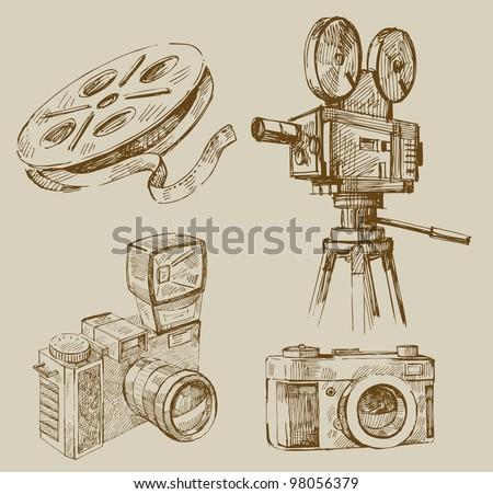 movie background - stock vector