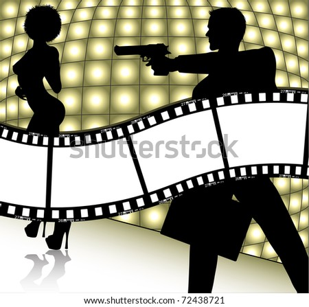 movie background (also available jpg version) - stock vector