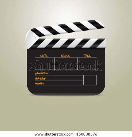 Movie Calpper vector illustration - stock vector