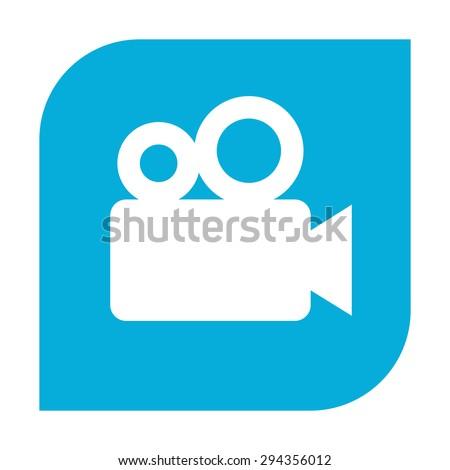 Movie camera icon. - stock vector
