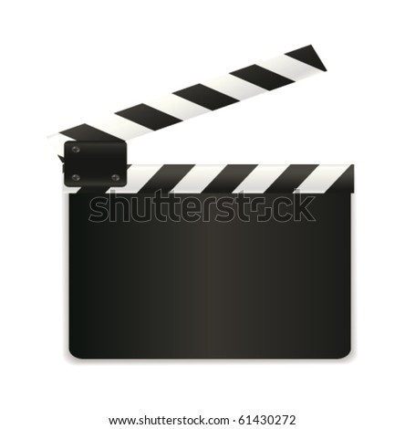 Movie clap - stock vector