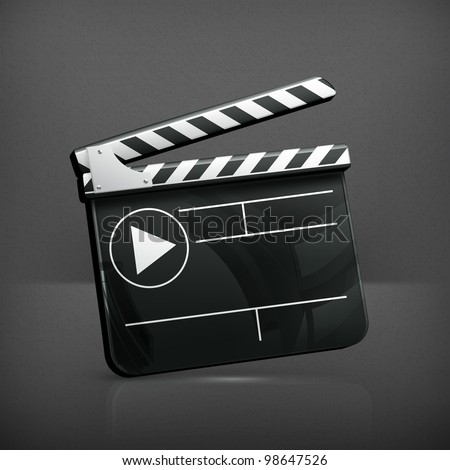 Movie clap, vector - stock vector