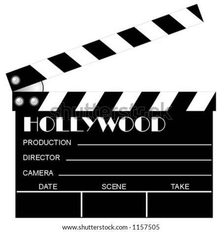 Movie clapboard. Vector. Add your text. Scalable. Change the colors as you wish.