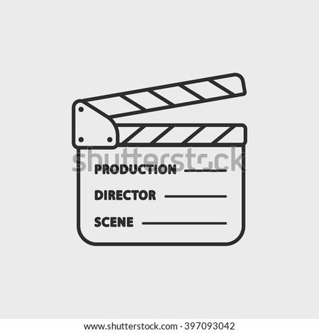 movie clapper board - stock vector