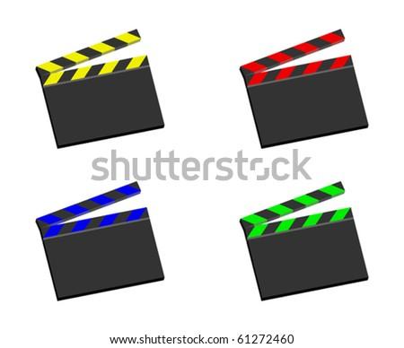 movie clapper board - vector - eps 10 - stock vector