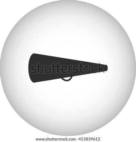 Movie directors megaphone sign simple icon on  background - stock vector