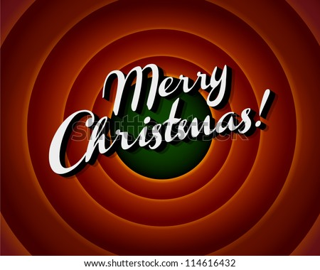 Movie ending screen - Merry Christmas - Vector EPS10 - stock vector