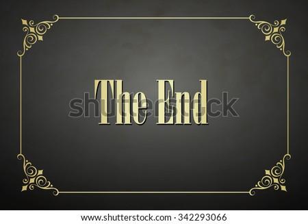 Movie ending screen video frame - stock vector