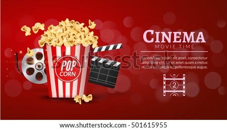 Movie Film Banner Design Template Cinema Stock Vector ...