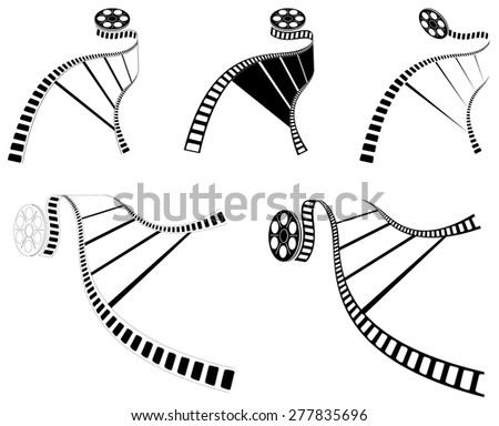 MOVIE FILM STRIP. ICON. BLACK. Vector Illustration - stock vector