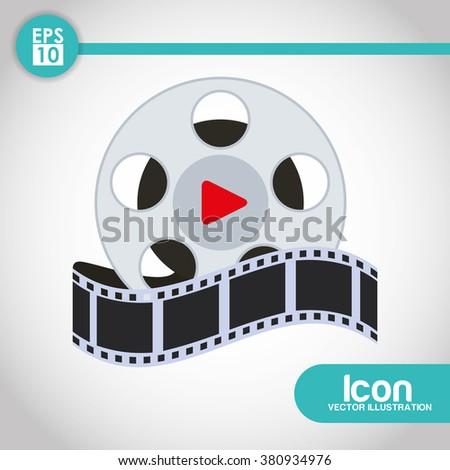 Movie icon design  - stock vector