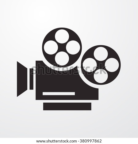 Movie  Icon Vector Illustration  - stock vector