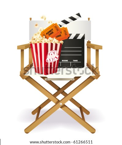 Movie poster. Vector - stock vector