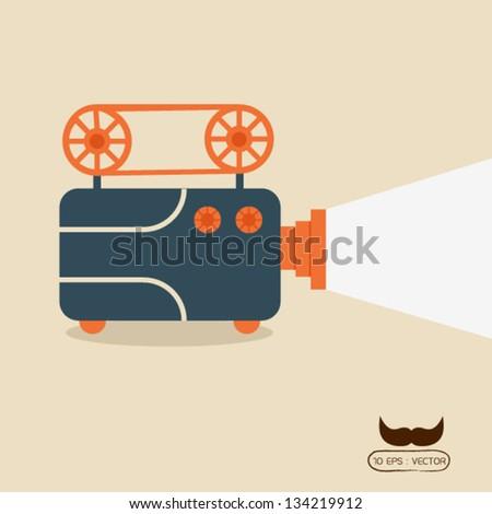 Movie projector - stock vector