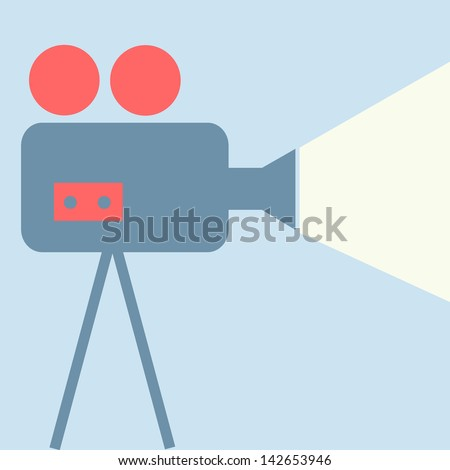 Movie projector - stock vector