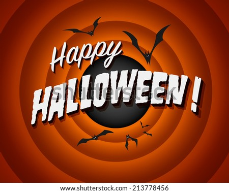 Movie still screen - Happy Halloween - Vector EPS10 - stock vector