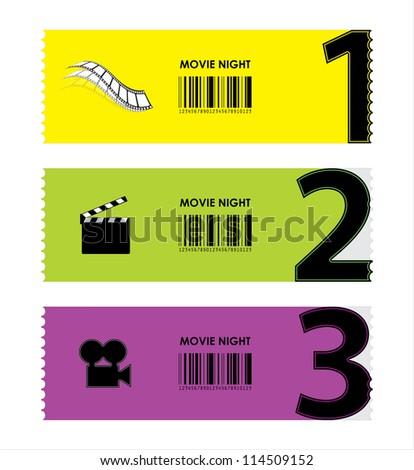 movie ticket - stock vector
