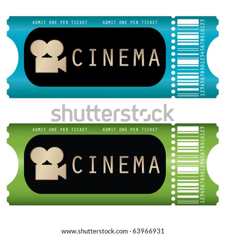movie ticket - stock vector