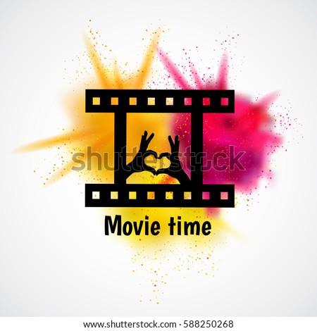 Logo Design Film Emblem Cinema Festival Poster Vector Template