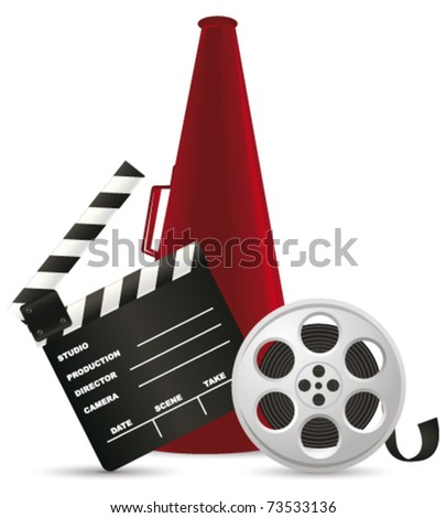 Movie time. Vector - stock vector