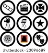 movie vector icons - stock vector