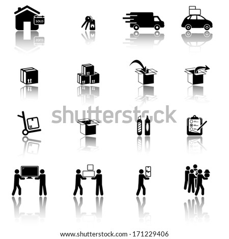 Moving and Movers Service - stock vector