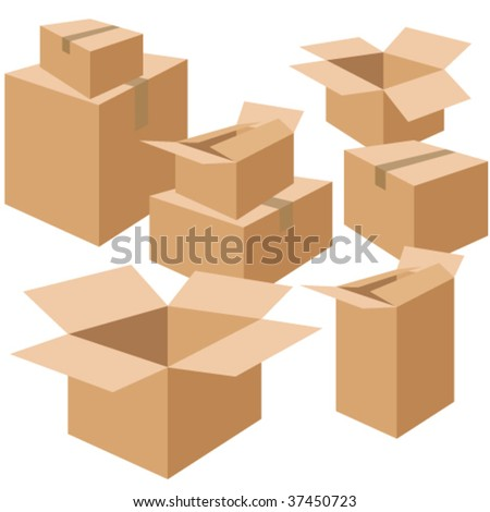moving boxes more in my portfolio - stock vector
