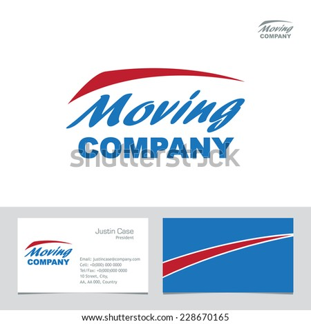 Moving company business sign business card stock vector hd royalty moving company business sign business card vector template visualization of business corporate identity friedricerecipe Choice Image