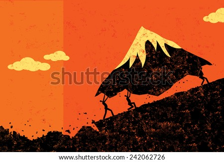 Moving Mountains - stock vector