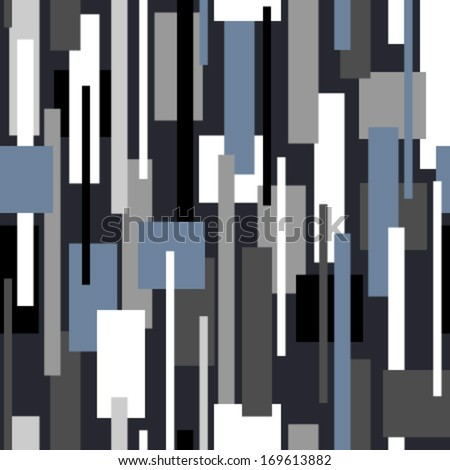 moving rectangles on black seamless pattern - stock vector