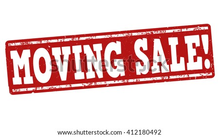 Moving sale grunge rubber stamp on white background, vector illustration - stock vector