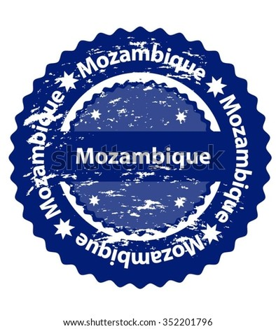 Mozambique  Country Grunge Stamp - stock vector
