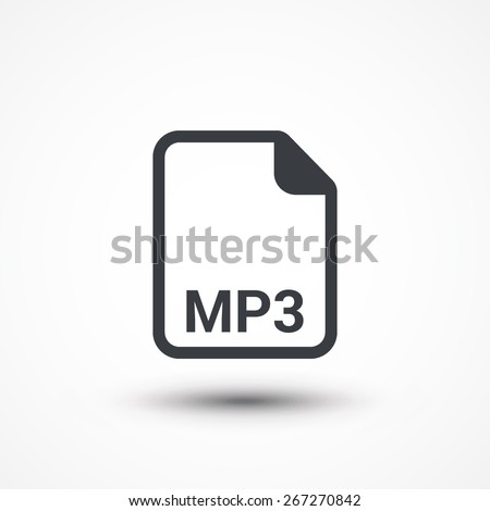 MP3 audio file extension icon. - stock vector