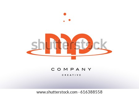 Mp m p creative orange swoosh stock vector 616388558 shutterstock mp m p creative orange swoosh dots alphabet company letter logo design vector icon template spiritdancerdesigns Images