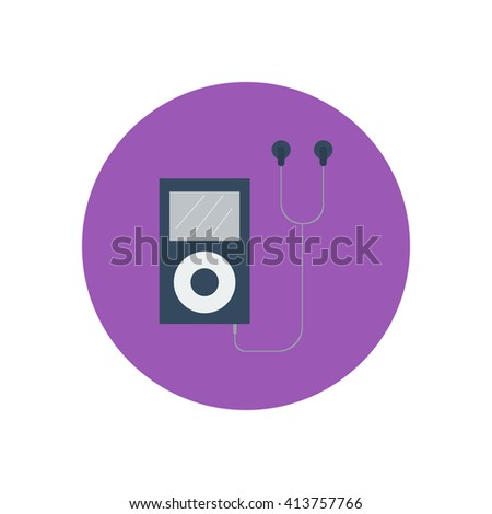 mp3 player icon. Vector illustration. Media player. Portable music device - stock vector