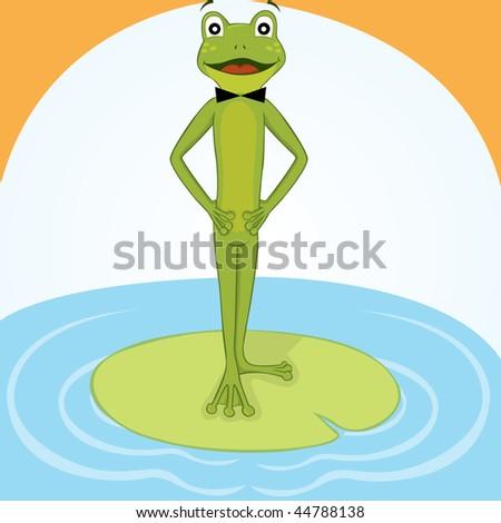 Mr. Frog - stock vector
