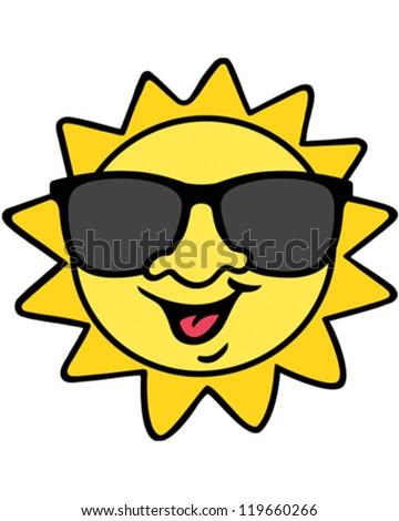Mr Sun - stock vector