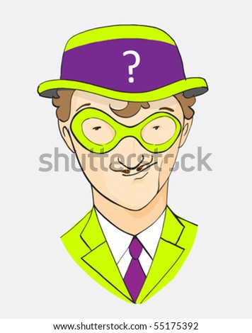 mr. Who, the hero from comics - stock vector