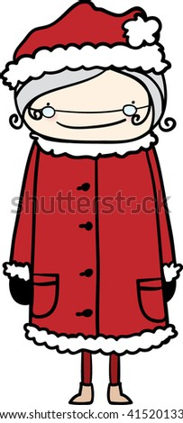 Mrs. Claus - stock vector