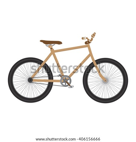 MTB Bicycle brown isolated.