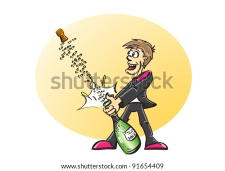 mu? slav? - cartoon illustration - stock vector