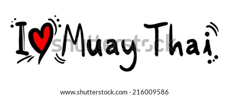 Muay thai love - stock vector